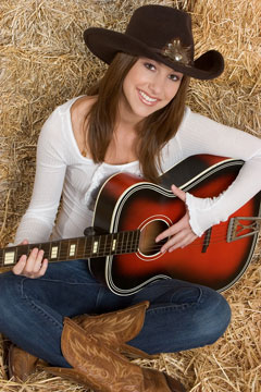 country western acoustic guitar player